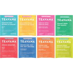 Teavana Assorted Tea Collection - English Breakfast, Earl Grey, Radiant Green, Harmonic Mint, Hibiscus, Chai, Chamomile Rose, Jasmine Green Lemon - 384 / Carton