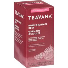 Teavana Pomegranate Zest Herbal Tea - Herbal Tea - Pomegranate Zest - 1.7 oz - 24 / Box