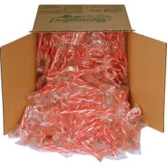 Spangler Peppermint Candy Canes - Peppermint - Individually Wrapped, Gluten-free - 0.15 oz - 500 / Box