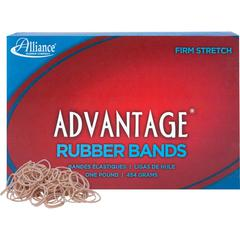 "Alliance Rubber 26105 Advantage Rubber Bands - Size #10 - 1 lb Box - Approx. 3700 Bands - 1 1/4"" x 1/16"" - Natural Crepe"