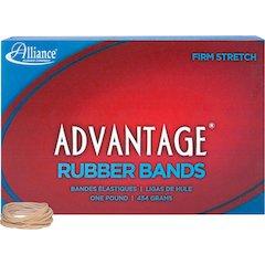 "Alliance Rubber 26125 Advantage Rubber Bands - Size #12 - 1 lb Box - Approx. 2500 Bands - 1 3/4"" x 1/16"" - Natural Crepe"