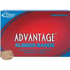 "Alliance Rubber 26305 Advantage Rubber Bands - Size #30 - 1 lb Box - Approx. 1150 Bands - 2"" x 1/8"" - Natural Crepe"