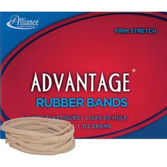 "Alliance Rubber 26329 Advantage Rubber Bands - Size #32 - 1/4 lb Box - Approx. 175 Bands - 3"" x 1/8"" - Natural Crepe"