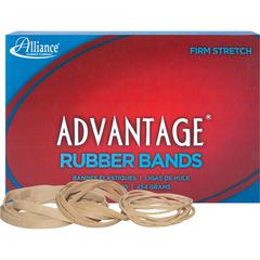 Alliance Rubber 26545 Advantage Rubber Bands - Size #54 - 1 lb Box - Assorted Sizes - Natural Crepe