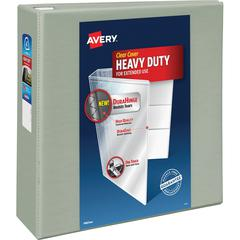 "Avery Heavy-Duty View Binder with Locking One Touch EZD Rings - 4"" Binder Capacity - Letter - 8 1/2"" x 11"" Sheet Size - 780 Sheet Capacity - 3 x D-Ring Fastener(s) - 4 Internal Pocket(s) - Chipboard,"