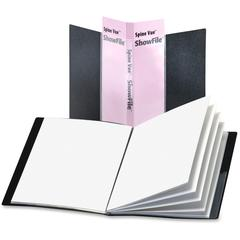 "Cardinal SpineVue ShowFile Binders - Letter - 8 1/2"" x 11"" Sheet Size - 48 Sheet Capacity - 24 Internal Pocket(s) - Polypropylene - Black - 9.92 oz - 1 Each"