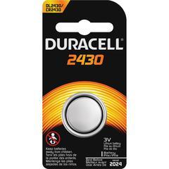 Duracell Coin Cell Lithium 3V Battery - DL2430 - Lithium (Li) - 3 V DC - 1 Each