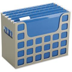 "DecoFlex Desktop File - External Dimensions: 12.2"" Width x 6"" Depth x 9.5"" Height - Plastic - Putty - For File - 1 Each"
