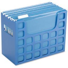 "Pendaflex Plastic Desktop Letter Hanging File - 9.5"" Height x 12.2"" Width x 6"" Depth - Desktop, Counter, Drawer - Blue - Plastic - 1Each"