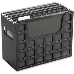 "Pendaflex DecoFlex Desktop File - 9.5"" Height x 12.2"" Width x 6"" Depth - Desktop, Counter, Drawer - Black - Plastic - 1Each"
