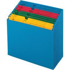 """Pendaflex A-Z QuickView Desktop Project File - 11"""" x 12"""" Sheet Size - 12 Pocket(s) - Paper - Blue - 15.52 oz - 1 Each"""