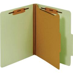 "Pendaflex Bonded Fastener Classification Folders - Letter - 8 1/2"" x 11"" Sheet Size - 1"" Fastener Capacity for Folder - 1 Divider(s) - 25 pt. Folder Thickness - Pressboard - Green - Recycled - 1 Each"