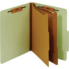 "Pendaflex Bonded Fastener Classification Folders - Letter - 8 1/2"" x 11"" Sheet Size - 1"" Fastener Capacity for Folder - 2 Divider(s) - 25 pt. Folder Thickness - Pressboard - Green - Recycled - 1 Each"