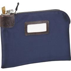 "MMF Locking Heavy-duty Currency Bag - 11"" Width x 8.50"" Length - Navy - Nylon - 1/Each - Storage, Document, Transporting"