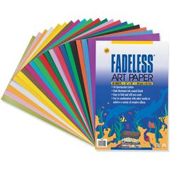 "Fadeless Art Paper Sheets - Craft, Art - 12"" x 18"" - 60 / Pack - Assorted"