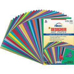 """Fadeless Designer Art Paper Sheets - Art - 12"""" x 18"""" - 100 / Pack - Assorted"""