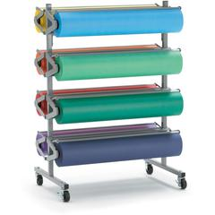 Pacon Horizontal Art Paper Roll Dispenser - 8 Roll(s) - 1 Each - Gray