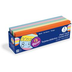Pacon Assorted Colors Blank Flash Cards - Educational