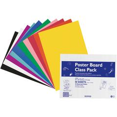 "Pacon Poster Board Class Pack - Board and Banner - 22"" x 28"" - 50 / Carton - Assorted"