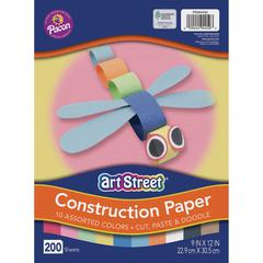"""Pacon Lightweight Construction Paper - Art, Craft - 9"""" x 12"""" - 200 / Pack - Assorted"""