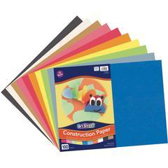 """Pacon Lightweight Construction Paper - Art, Craft - 12"""" x 18"""" - 100 / Pack - Assorted"""