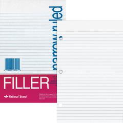 """Rediform Standard Ruled Filler Paper - 100 Sheets - Stapled/Glued - 5.50"""" x 8.50"""" - White Paper - Subject, Punched - 100 / Pack"""