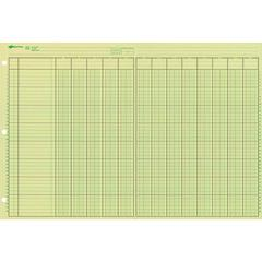 """Rediform National Side Punched Analysis Pads - 50 Sheet(s) - Gummed - 11"""" x 16.37"""" Sheet Size - 3 x Holes - Green Sheet(s) - Green, Brown Print Color - 50 / Pad"""