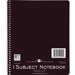 """Roaring Spring 1-Subject Spiralbound Notebook - 50 Sheets - Wire Bound - Ruled 7"""" x 8.50"""" - Assorted Cover - 50 / Each"""