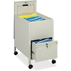 """Safco Rollaway Letter File - 4 Casters - Steel - 17"""" Width x 26"""" Depth x 28"""" Height - Putty"""