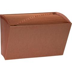 """Sparco No Flap Heavy-Duty Accordion Files - Legal - 8 1/2"""" x 14"""" Sheet Size - 21 Pocket(s) - 1/3 Tab Cut - Top Tab Location - Brown - Recycled - 1 Each"""