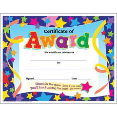 """Trend Shoot for the Moon Award Certificate - 8.50"""" x 11""""30 / Pack"""