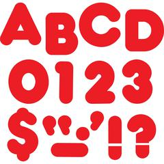 "Trend Reusable 2"" Ready Alphabet Letters Set - 100, 20 (Capital Letter, Punctuation Marks) Shape - Precut - 2"" Height - Red - Paper - 1 / Pack"