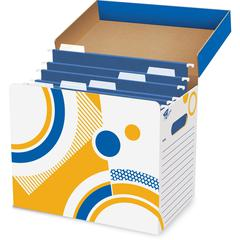 "Trend Fine n Save Folder / File Storage Box - External Dimensions: 12.3"" Width x 8"" Depth x 10.3""Height - Media Size Supported: Letter - For File - 1 Each"