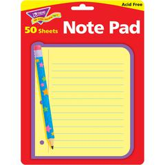 "Trend Cheerful Design Note Pad - 50 Sheets - 5"" x 5"" - Acid-free - 50 / Pad"
