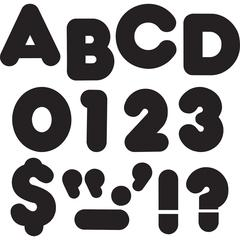 "Trend 3"" Casual Uppercase Ready Letters - 83 Capital Letter, 28 Punctuation Marks - Reusable, Precut - 3"" Height - Black - Paper - 1 Pack"