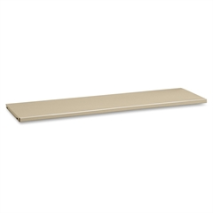 "Tennsco Welded Bookcase Shelve - 34"" x 13"" x 0.9"" - 120 lb Load Capacity - Putty - Steel - Recycled"