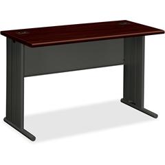 "HON StationMaster 66000 Series Desk - 48"" x 29.5"" x 29.5"" - Radius Edge - Material: Melamine - Finish: Charcoal, Laminate, Mahogany"