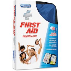 """PhysiciansCare Soft-Sided First Aid Kit - 195 x Piece(s) For 25 x Individual(s) - 7.1"""" Height x 1.8"""" Width x 9.5"""" Depth"""