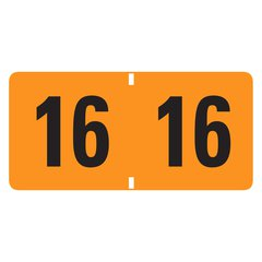 """Smead ETYJ Color-Coded Year Labels - 1.50"""" Width x 0.75"""" Length - 500 / Roll - Rectangle - Orange - 500 / Roll"""