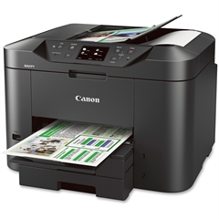 Canon MAXIFY MB2320 Inkjet Multifunction Printer - Color - Plain Paper Print - Desktop - Copier/Fax/Printer/Scanner - 23 ipm Mono/15 ipm Color Print (ISO) - 600 x 1200 dpi Print - Automatic Duplex Pri