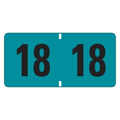 """Smead ETYJ Color-Coded Year Labels - """"Year"""" - 1.50"""" Width x 0.75"""" Length - 500 / Roll - Rectangle - Turquoise - 500 / Roll"""