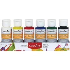 Handy Art Face Paint - 2 oz - 6 Carton - Assorted