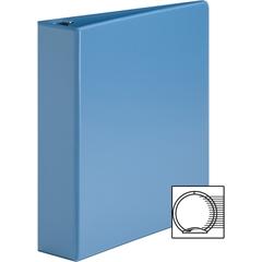 "Sparco Premium Round Ring View Binders - 2"" Binder Capacity - Letter - 8 1/2"" x 11"" Sheet Size - 3 x Round Ring Fastener(s) - 2 Internal Pocket(s) - Polypropylene - Light Blue - 1 Each"