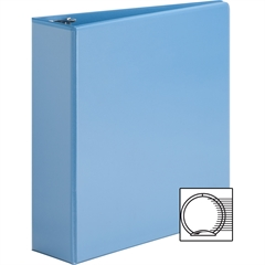 "Sparco Premium Round Ring View Binders - 3"" Binder Capacity - Letter - 8 1/2"" x 11"" Sheet Size - 3 x Round Ring Fastener(s) - 2 Internal Pocket(s) - Polypropylene - Light Blue - 1 Each"