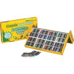 Crayola Construction Paper Classpack Crayons - Classroom - 400 / Box - Multicolor