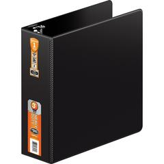 "Wilson Jones 364 Hvy-duty Rnd Ring Binders - 3"" Folder Capacity - Letter - 8 1/2"" x 11"" Sheet Size - 870 Sheet Capacity - 3"" Expansion - 3 x Flip Lock Fastener(s) - Internal Pocket(s) - Vinyl - Black"