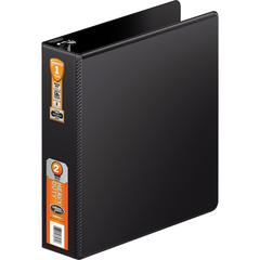 "Wilson Jones® Heavy Duty D-Ring Binder with Extra Durable Hinge - 2"" Binder Capacity - 550 Sheet Capacity - D-Ring Fastener(s) - 2 Internal Pocket(s) - Polypropylene - Black - 1 Each"