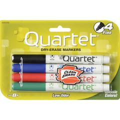Quartet® Classic Low Odor Dry-Erase Markers - Fine Marker Point Type - Assorted - 4 / Set