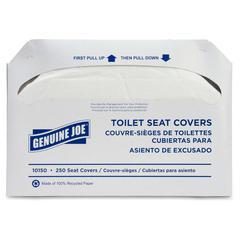 Genuine Joe Toilet Seat Covers - 2500 / Carton - White