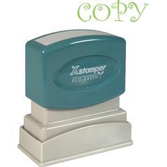"Xstamper Pre-Inked COPY Title Stamp - Message Stamp - ""COPY"" - 0.50"" Impression Width x 1.63"" Impression Length - 100000 Impression(s) - Light Green - Recycled - 1 Each"